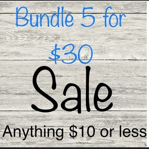 Other - Bundle 5 items and I'll send you an offer for $30